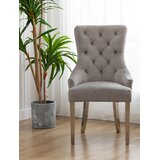 Diller Tufted Velvet Upholstered Side Chair in Gray (Set of 2) by Rosdorf Park