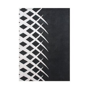 Compare Cleveland Hand Tufted Wool Black/White Wool Area Rug By Orren Ellis