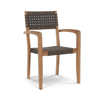 Benbow Stacking Teak Patio Dining Chair (Set of 4)