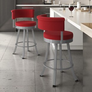 Lillian 31 Swivel Bar Stool Ebern Designs
