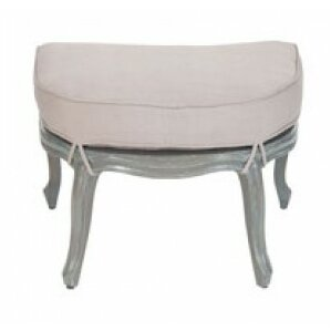 Langley Half Round Cabriole Ottoman by One A..