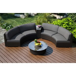 Hodge 4 Piece Sofa Seating Group with Sunbrella Cushions