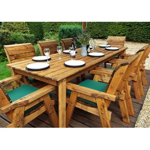Finney 8 Seater Dining Set With Cushions By Union Rustic