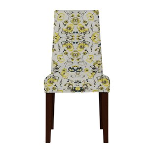 Latitude Run Haddonfield Gray/Yellow Side Chair (Set of 2)