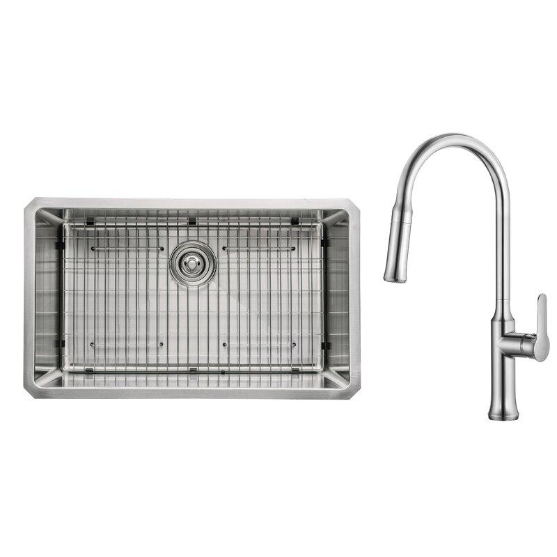 Kraus Kitchen Combos 30 L X 18 W Undermount Kitchen Sink With