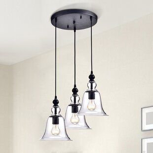Hillview 3-Light Cluster Pendant by Charlton Home