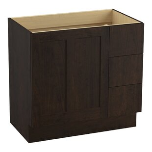 Poplin Tones 36 Vanity with Toe Kick, 1 Door and 3 Drawers on Right by Kohler