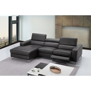Carrolltown Leather Reclining Sectional Wade Logan Cheap
