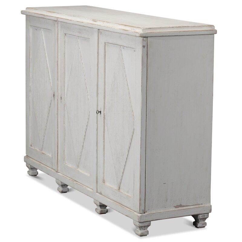 "Kaplan 66"" Wide Pine Wood Gustavian style Sideboard. #gustavian #sideboard #furniture #europeancountry #scandinavian #antiques #cupboards #cabinets"