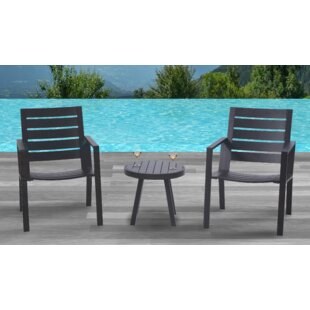 Moralez 3 Piece Bistro Set