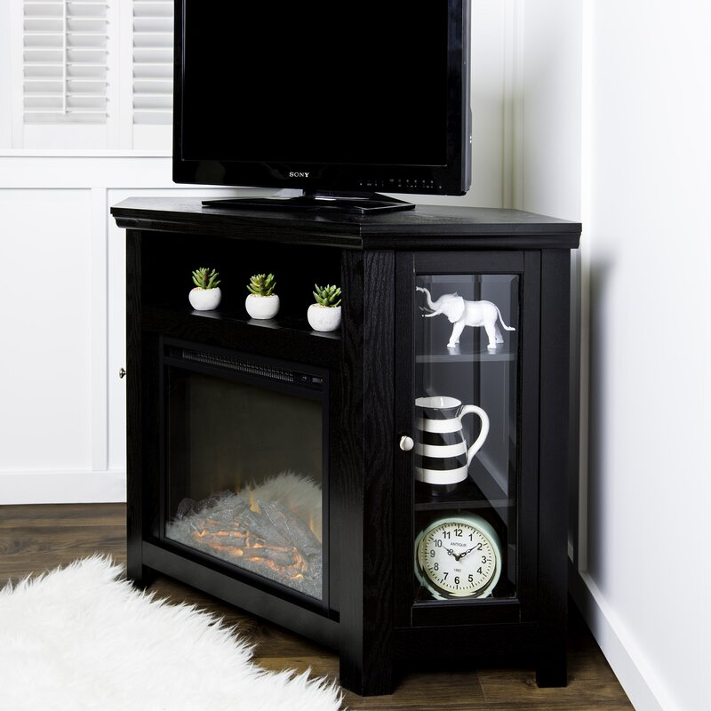 Corner TV Stand with Electric Fireplace & Reviews | Joss & Main