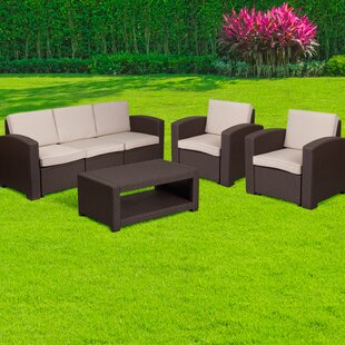 Resendiz 4 Piece Sofa Set with Cushions