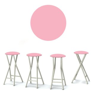 Ice Cream Parlour 30'' Patio Bar Stool (Set of 4)