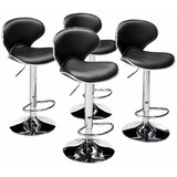 Martineau PU Leather Adjustable Height Swivel Bar Stool (Set of 4) by Orren Ellis