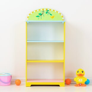 Laureano 4Tier Wooden Toy Storage Hand Painted NonToxic 295 Bookcase by Zoomie Kids