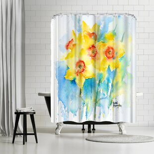 Rachel McNaughton Yellow Narcissus Single Shower Curtain