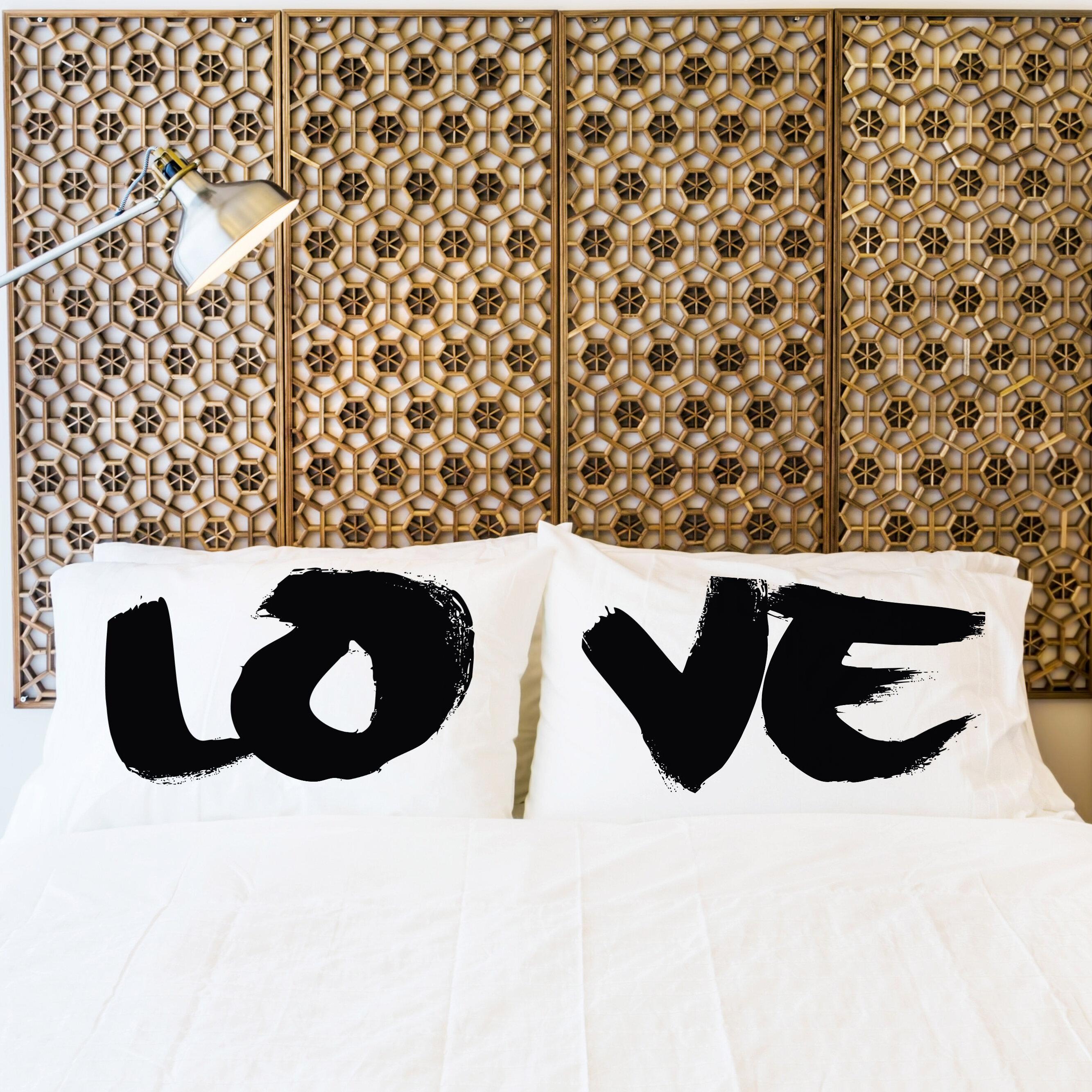 Red Barrel Studio Aylesbury 2 Piece Love Painted Pillow Case Set Wayfair