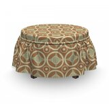 Contrast Circle Harmony Ottoman Slipcover (Set of 2) by East Urban Home