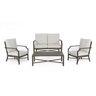 Revilla Outdoor Aluminum 4 Seater Chat Set by Home Loft Concepts