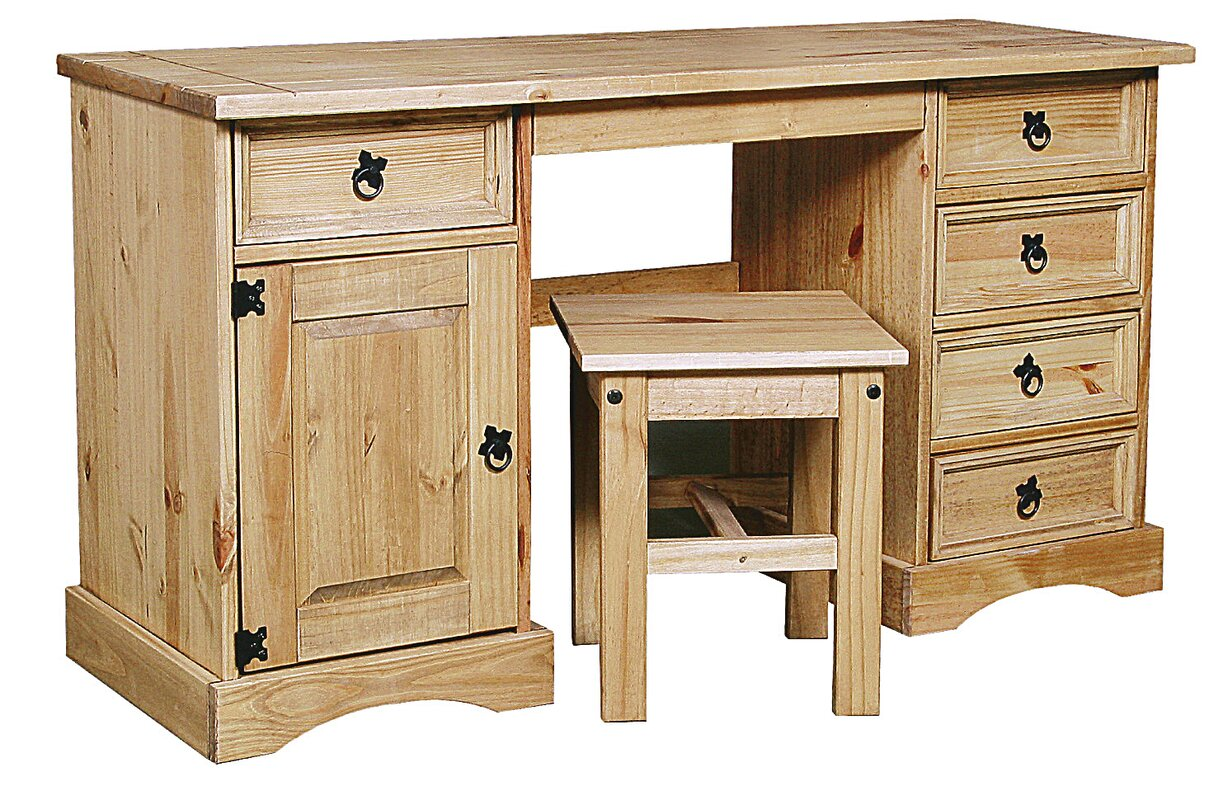 Rustic Corona Double Dressing Table Set