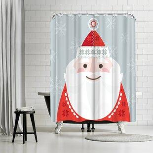 Amanda Shufflebotham Christmas Santa Shower Curtain