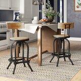 Feliz Swivel Adjustable Height Bar Stool by Birch Lane™