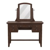 Moradian Modern Vanity with Mirror by August Grove®