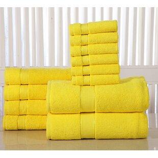 12 Piece 100% Cotton Towel Set