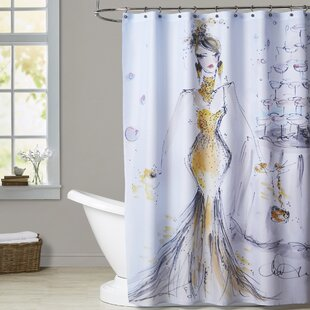 Lone Oak Champagne Bubbles Single Shower Curtain