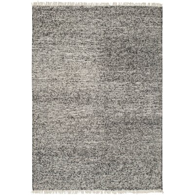 Brayden Studio Mcdavid Hand Woven Silk Black Area Rug Rug Size: Rectangle 4' x 6'