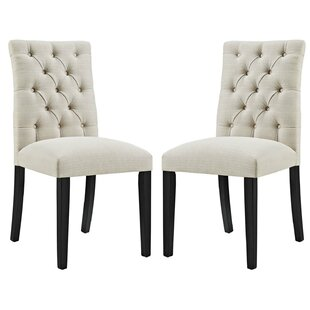 Charlton Home Lykins Upholstered Dining Chair (Set of 2)