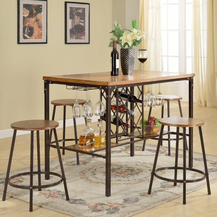 Captivating Calla 5 Piece Pub Table Set