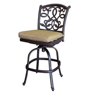 Windley Contemporary Swivel Patio Bar Stool by Fleur De Lis Living