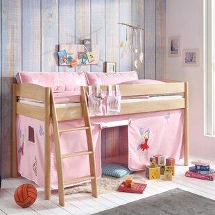 Wallart European Single Mid Sleeper Bed With Curtain By Zoomie Kids