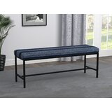 Fintan Striped Upholstered Bench by Ebern Designs