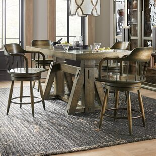 Crafted 5 Piece Counter Height Extendable Dining Set