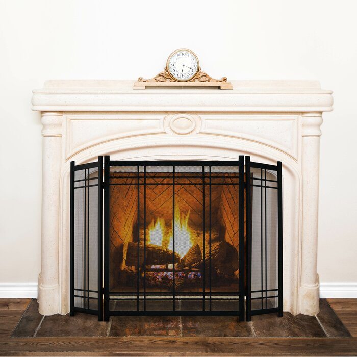 Magnificent Preston 3 Panel Steel Fireplace Screen Beutiful Home Inspiration Ommitmahrainfo
