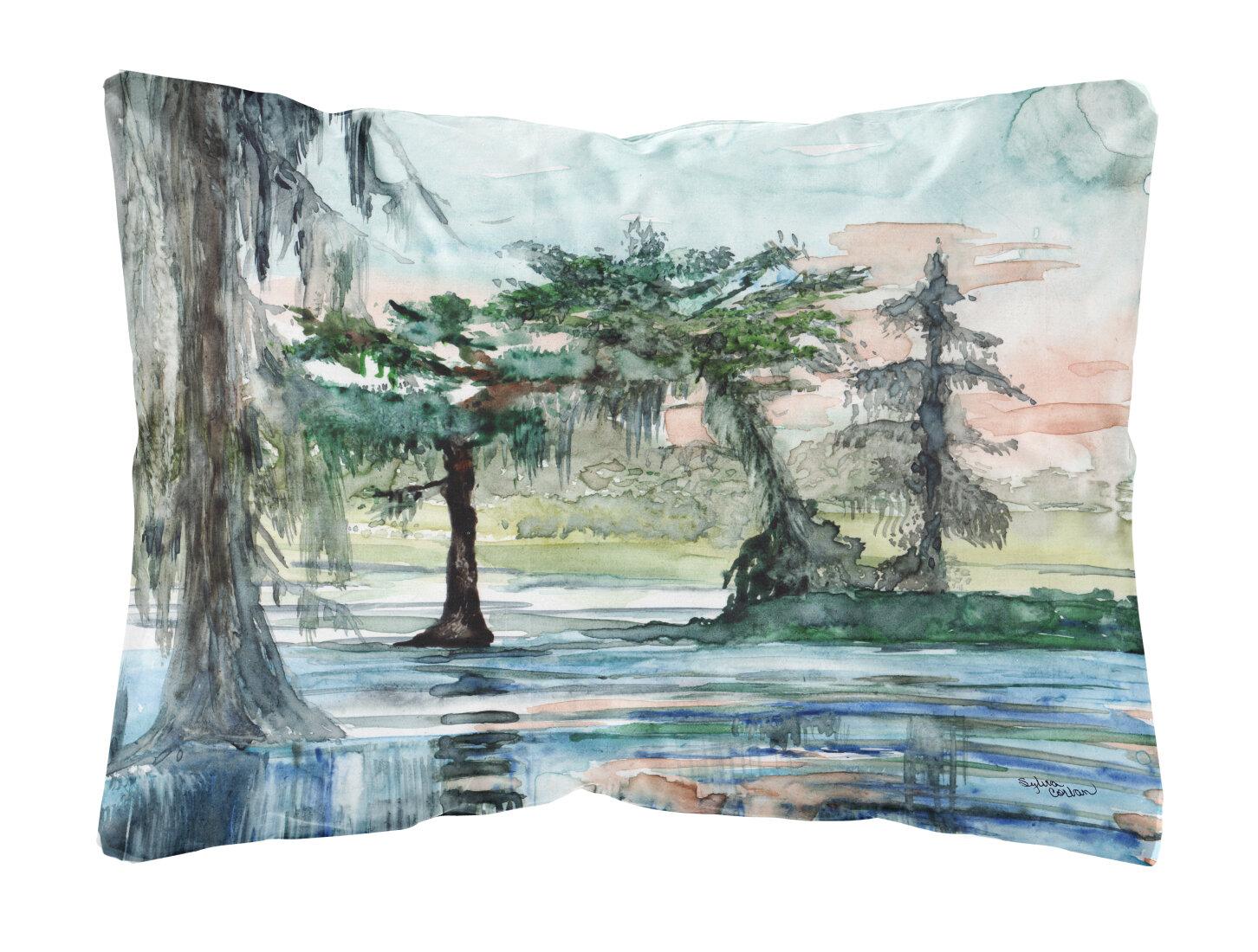 Winston Porter Mardis In The Swamp Fabric Indoor Outdoor Throw Pillow Wayfair