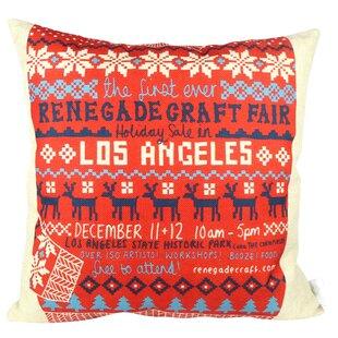 Wondrous Christmas Sweater Los Angeles Throw Pillow Uwap Interior Chair Design Uwaporg