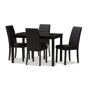 Petrillo 5 Piece Dining Set Ebern Designs