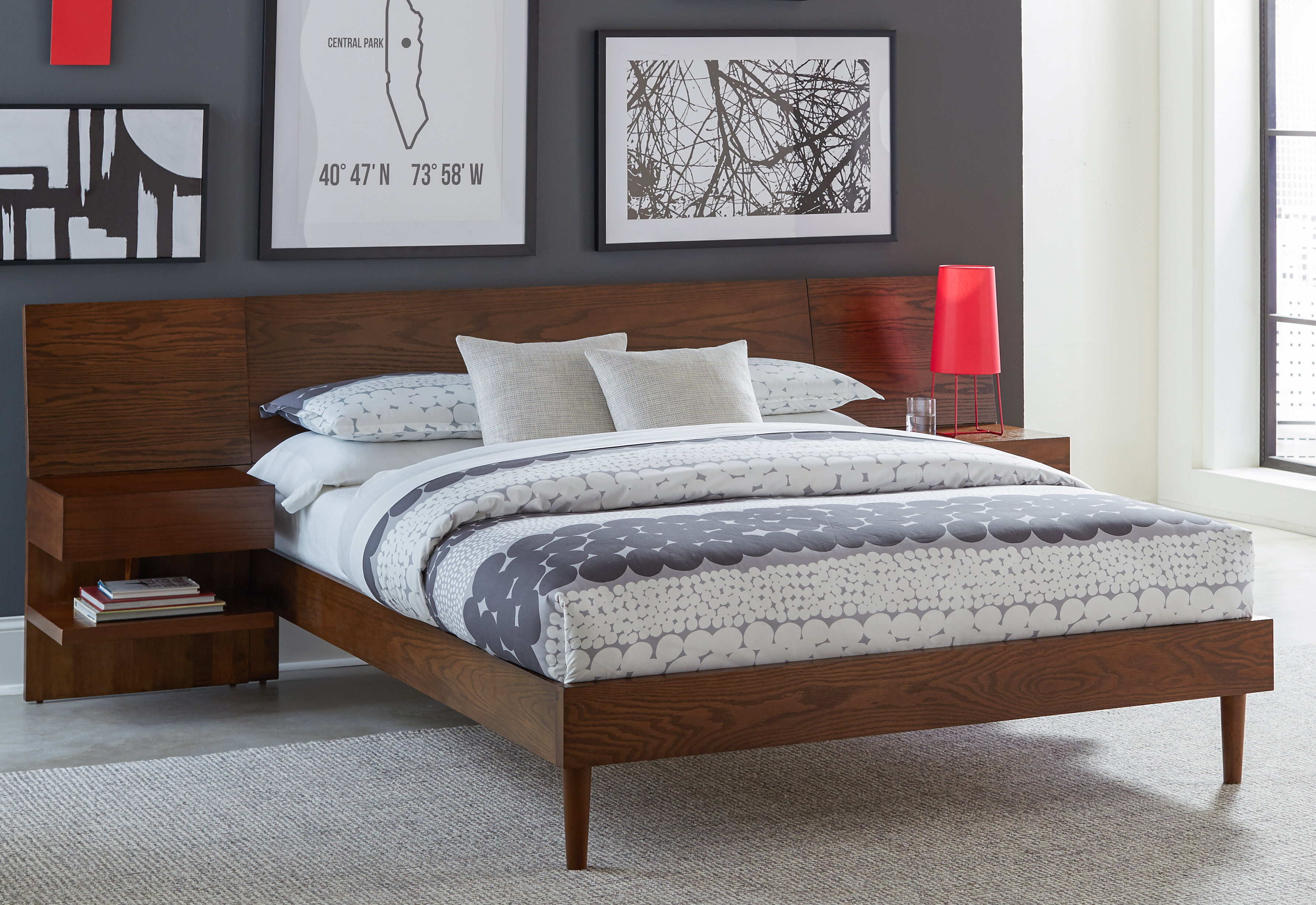 Picture of: Allmodern Alma Low Profile Storage Platform Bed Reviews