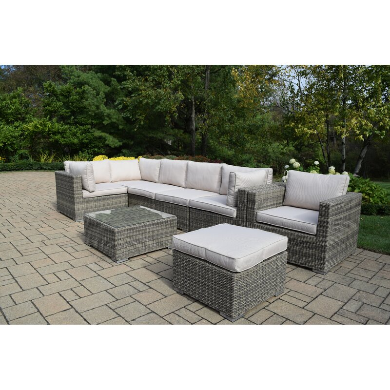 Rosecliff Heights Devan 8 Piece Sectional Set With Cushions Wayfair