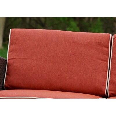 Loggins Outdoor Sofa Cushion Cover Set Color: Orange by Brayden Studio