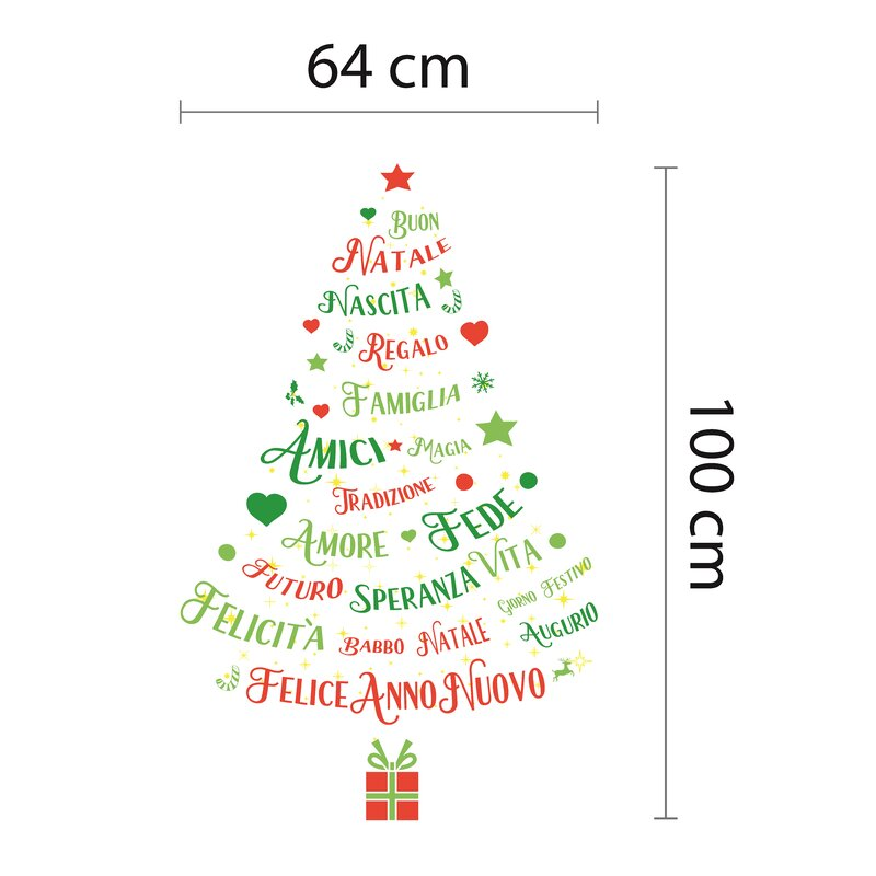 Walplus Magic Glow In Dark Christmas Tree Italian Quotes Wall