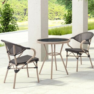 Bay Isle Home Gainesville 3 Piece Dining Set