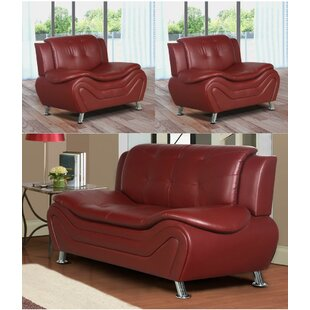 Machelle 3 Piece Living Room S..