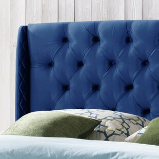 Riley Upholstered Wingback Headboard by Alcott Hill