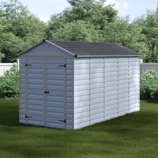 Skylight 6 Ft. W X 12 Ft. D Apex Polycarbonate Shed By Palram