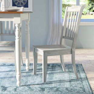 Back Bay Solid Wood Dining Chair (Set Of 2) by Three Posts Best Choices