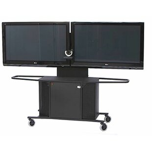 Mobile Metal AV Cart with Dual Monitor Mount by VFI